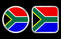 Stock Illustration of south africa flag icon