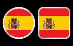 Spain flag icon Stock Illustration