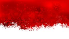 Abstract christmas background with snowflakes - stock illustration