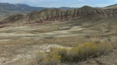John Day fossil beds painted hills 6a Stock Footage