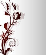 Vintage retro floral background Stock Illustration