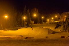 Ski resort at night Stock Photos