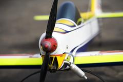 Radio-controlled aircraft display model - stock photo