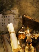 buried treasure - stock illustration