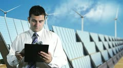 Young Businessman Checking Contract Energy Concept Stock Footage