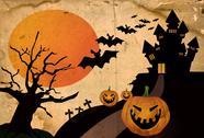 Grunge halloween background Stock Illustration