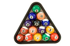 Billiard Balls Isolated on a White Background Stock Photos