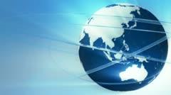 Broadcast globe animation A - stock footage