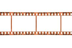 Filmstrip Isolated on a White Background Stock Photos