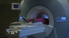 Person having MRI performed - stock footage