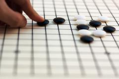 traditional chinese board game - go - stock photo