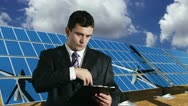 Young Businessman Signing Contract Energy Concept Stock Footage