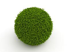 grass sphere - stock illustration