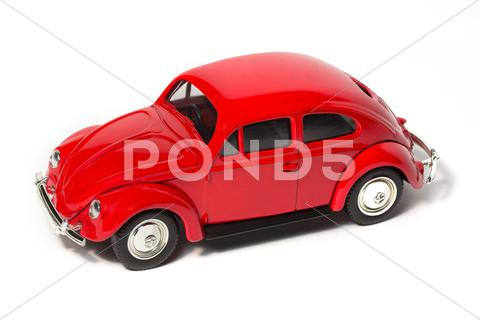 Stock photo of toy volkswagen beetle