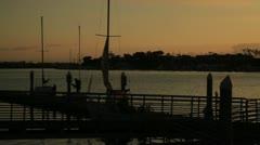 Venice Beach marina dusk Stock Footage