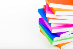 Colorful books stack like home Stock Photos