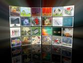 3d video wall Stock Illustration