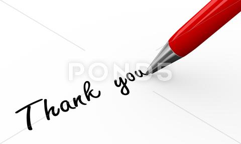 Stock Illustration of 3d pen writing thank you
