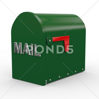 Stock Illustration of 3d closed mailbox