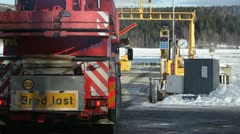 Truck entering a ferry  Stock Footage