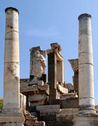 tomb of memmius in ephesus - stock photo
