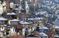 Residential area of veliko tarnovo Stock Photos