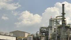 Chemical factory - Time lapse - stock footage