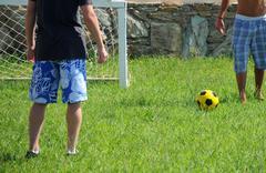 Street amateur soccer Stock Photos