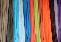 thin bright fabrics - stock photo