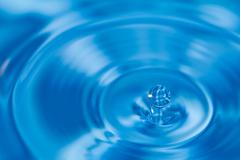 Clean water and water bubbles in blue Stock Illustration