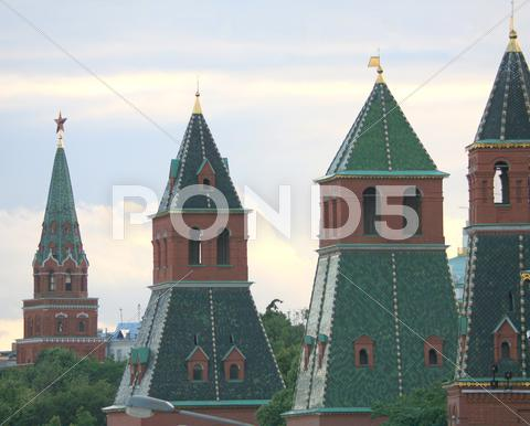 Stock photo of old towers