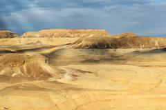 landscapes of desert negev - stock photo