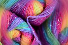 yarn with a blur effect - stock photo