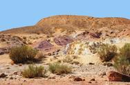 Unique colored sands in a desert Stock Photos