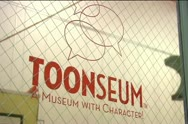 Stock Video Footage of Toonseum Window