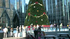 PPG Place Skating Rink Stock Footage