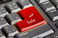Computer keyboard - green key Stock Illustration