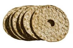 dry norwegian bread - stock photo