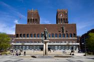 Stock Photo of city town hall of oslo