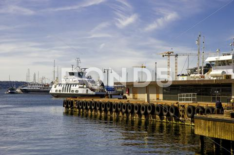 Stock photo of landing stage