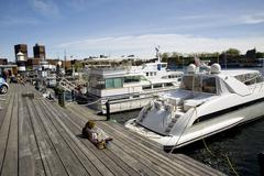 Stock Photo of landing stage for yachts