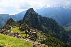 inca city machu picchu - stock photo