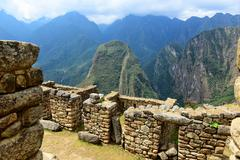 ruins machu picchu - stock photo