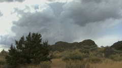 Idaho clouds at Massacre Rocks Stock Footage