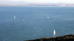 San Diego Bay with sailboats Stock Footage