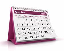 October 2013 calendar Stock Illustration