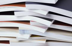 considerable quantity of the printed catalogues - stock photo