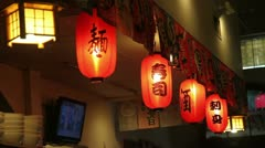 Inside a japanese restaurant Little Tokyo Los Angeles Stock Footage