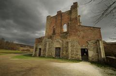 The abbey of san galgano Stock Photos