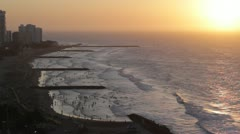 Sunset at Boca Grande, Cartagena, Colombia Stock Footage